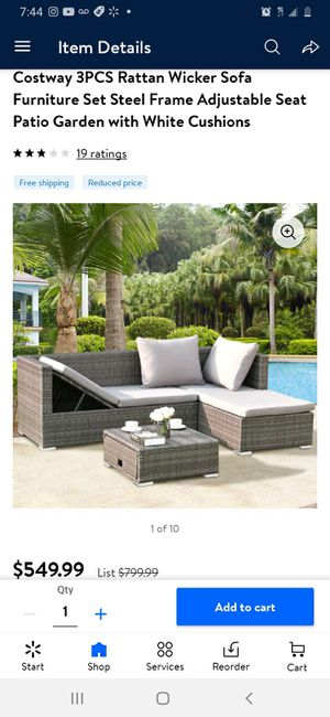 New 3 Piece Outdoor Patio Wicker Furniture Set for Sale in Compton, CA