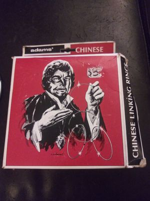 Vintage Adams Chinese Linking Rings Magic Trick Magician 1970s for Sale in Germantown, MD