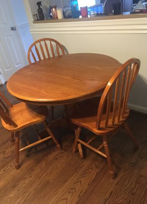 Table and three chairs for sale for Sale in Arlington, VA