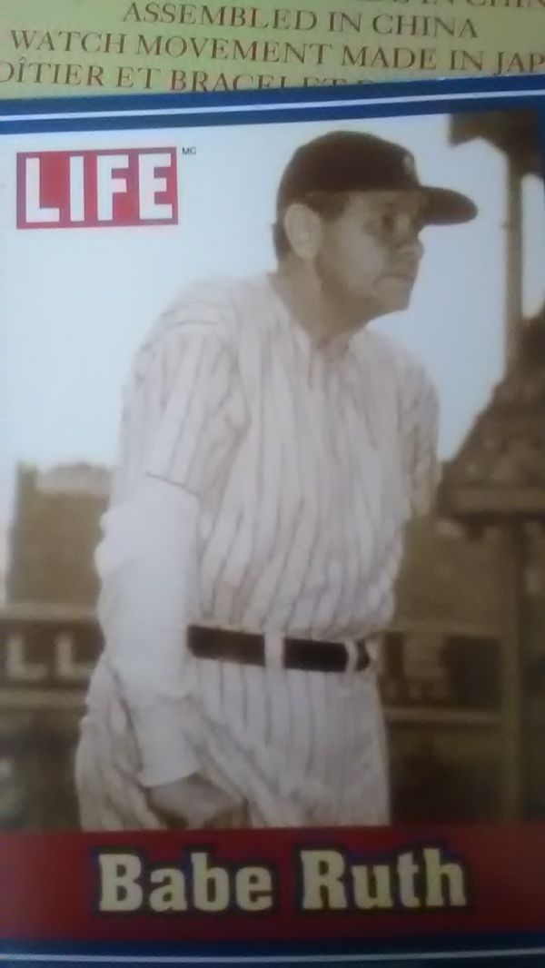 babe Ruth baseball card from Life magazine