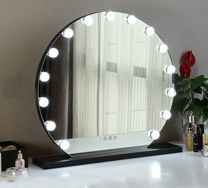 """New $140 Round 24"""" Vanity Mirror w/ 15 Dimmable LED Light Bulbs Beauty Makeup (White or Black) for Sale in El Monte, CA"""