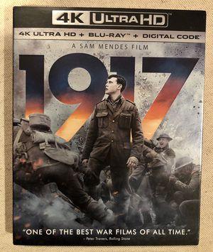 "Movie ""1917"" 4KUltraHd +Bluray +Digital for Sale in Norwalk, CA"