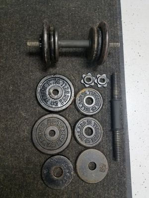 Weight Plate Set with 40 lbs of Weight for Sale in Sterling Heights, MI