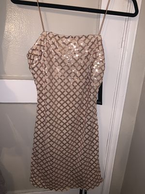 Rose gold sequence dress for Sale in Montebello, CA