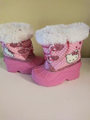 Hello Kitty Winter Snow Boots Toddler 5-6 for Sale in Branford, CT