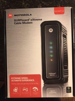 Motorola SURFboard SB6121 cable modem for Sale in La Habra, CA