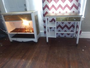 Free delivery /Restored bar, desk and matching mirror for Sale in Philadelphia, PA