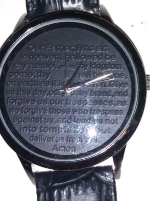 Wrist watch with the Lords prayer in it for Sale in Pleasant Hill, IA