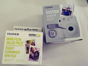 Instax mini 9 Polaroid camera and 60ct film. Brand new for Sale in Houston, TX