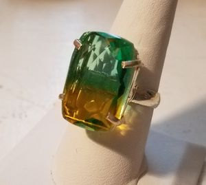 Tourmaline quartz (lab) and 925 sterling silver ring, size 9 for Sale in Bangor, ME