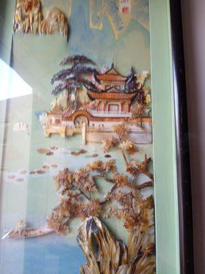 2 Cuadros chino retocados a mano con nacar $ 50 los dos for Sale in Hialeah, FL