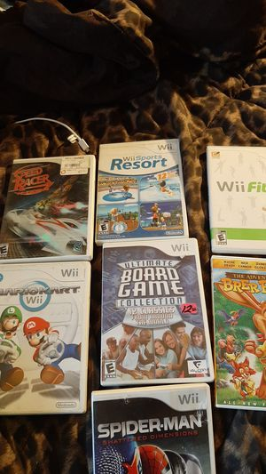 Wii games with Wii console for Sale in North Chesterfield, VA