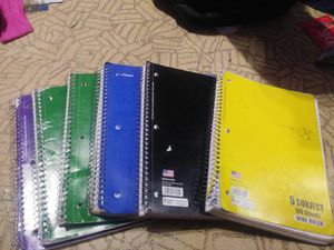 Wide rule and college rule note books for Sale in US