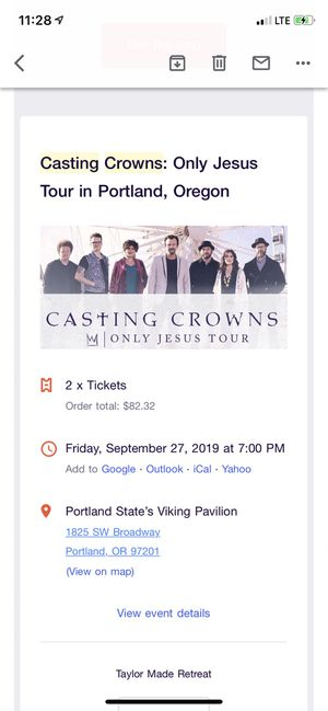 Casting Crowns Portland for Sale in Portland, OR