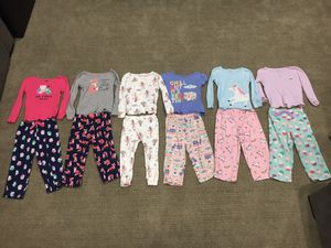 3T Girls Pajamas. Carter's. Includes unicorn pjs. for Sale in Elmhurst, IL