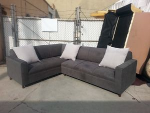 NEW 7X9FT ANNAPOLIS GRANITE FABRIC SECTIONAL COUCHES for Sale in Victorville, CA