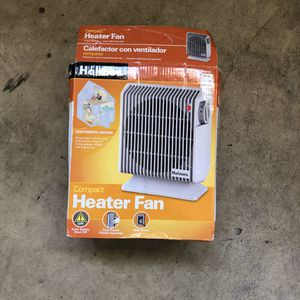 Holmes Compact Heater Fan HFH105 1500 Watts Adjustable Thermostat for Sale in Arlington, VA