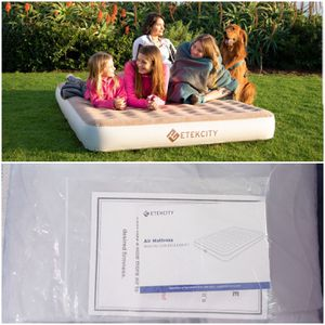 Etekcity Queen Size Camping Air Mattress Blow Up Bed Inflatable Mattress Raised Airbed for Sale in Largo, FL