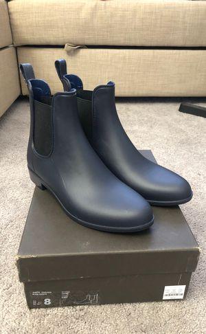 J crew matte navy Chelsea rain boots Sz 8 for Sale in Inglewood, CA