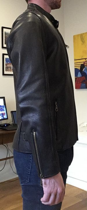 Steerhide Leather Motorcycle-style Jacket for Sale in Brooklyn, NY