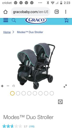 Garco double stroller aqua for Sale in Fort Worth, TX