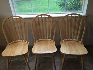 Wooden kitchen chairs for Sale in Vancouver, WA