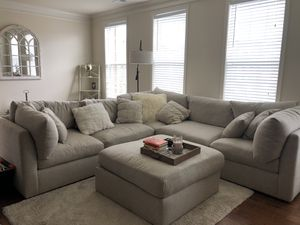 Off white sectional couch for Sale in Ashburn, VA