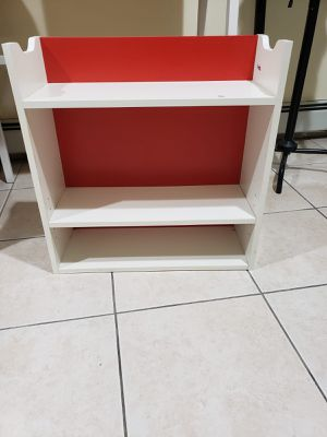 Small white and red shelf for Sale in New York, NY
