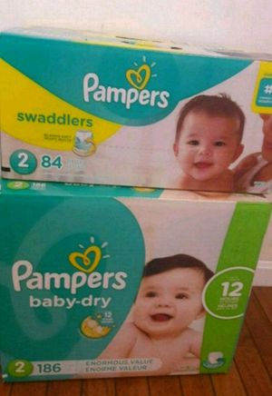 Size 2 Pampers Swaddlers and Baby Dry for Sale in Boston, MA