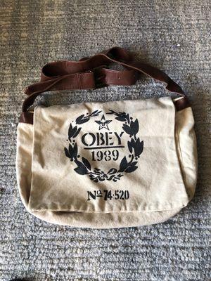 Obey canvas messenger bag for Sale in Bonita, CA