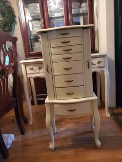 Antique French Vanity and Jewlery Armoire for Sale in Salem,  OR