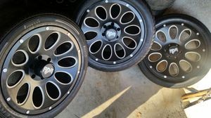 """Wheels and tires 20"""" 6 lug chevy for Sale in Riverside, CA"""