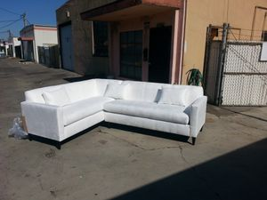 NEW 7X9FT DOMINO WHITE FABRIC SECTIONAL COUCHES for Sale in Redlands, CA