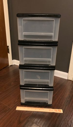 4 stackable small plastic storage drawers for Sale in Los Angeles, CA