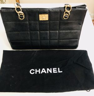 Vintage Chanel chocolate bar grand shopping tote for Sale in Wilmette, IL