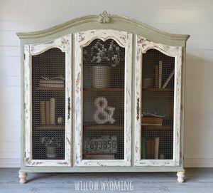 Rustic farmhouse cabinet bookcase for Sale in Camden Wyoming, DE