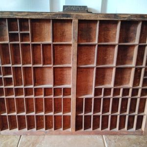 Vintage Antique Type Set Tray Drawer Shadowbox Display for Sale in Pearland, TX