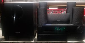 Like new condition Onkyo full surround sound system for Sale in Niles, IL