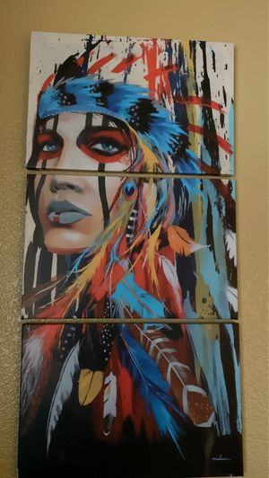 3 piece Indian painting for Sale in Antioch, CA