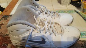 Women's Nike Air Shoes (White & Silver) Size 11 for Sale in St. Louis, MO