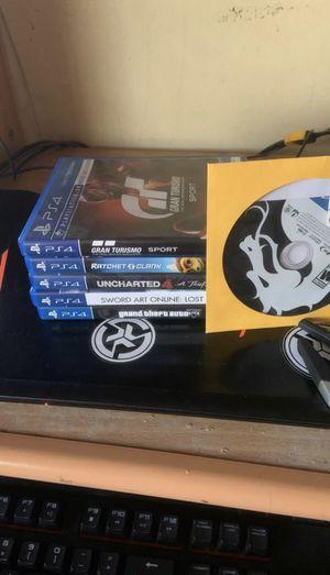 Mint Logitech g29 and PS4 games GTA 5 GTA V Mortal Kombat for Sale in Huntington Park, CA