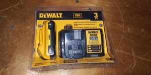 DEWALT 20-Volt MAX Lithium-Ion Battery Pack 3.0Ah with Charger for Sale in Atlanta, GA
