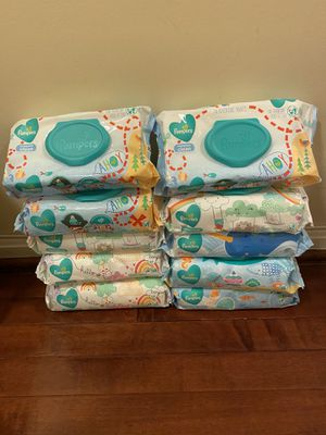 10 Pack pampers wipes 56 cts per pack for Sale in Lorton, VA