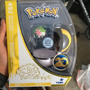 Pokemon Limited Edition 492 SHAYMIN 20th Anniversary Tomy Pokeball Figure New for Sale in Oceanside, CA
