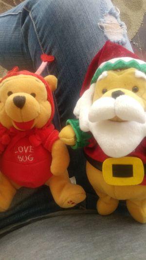 "Mini Bean Bag Firefly Pooh 8"" & Santa Pooh 9"" for Sale in Bakersfield, CA"