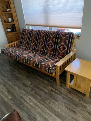 Futon and end table for Sale in Fort Lauderdale, FL