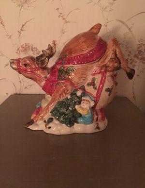 Ceramic Reindeer Cookie Jar for Sale in Pontotoc, OK
