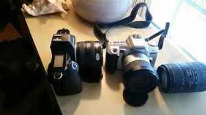 35 mm cameras canon and minolta for Sale in Houston, TX