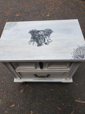 Boho Chic Elephant Side End Table for Sale in Penllyn, PA