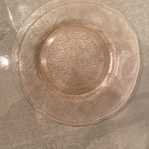 Pink Depression Glass Plate for Sale in Rockville, MD